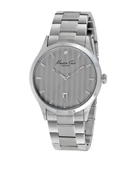 Kenneth Cole Mens Rock Out Stainless Steel And Diamond Bracelet Watch Silver
