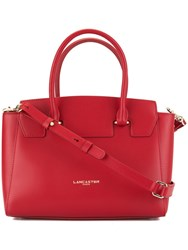 Lancaster Camelia Smooth Tote Bag Red