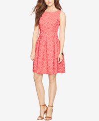 American Living Floral Jacquard Fit And Flare Dress