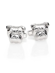 Dunhill Bull Dog Sterling Silver Cuff Links