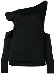 Balmain Off The Shoulder Cut Out Top Black