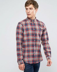 Paul Smith Shirt In Check Tailored Slim Fit Red Blue Red