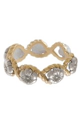 Olivia Burton Flower Show Rope Ring Silver Gold