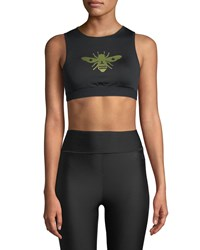 Ultracor Level Bee Performance Crop Top Black Gold