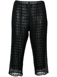Marc Jacobs Embroidered Cropped Trousers Black