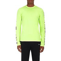 Vetements Men's Gothic Lettering Long Sleeve T Shirt Yellow