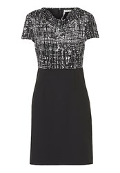 Betty Barclay Short Sleeve Graphic Print Dress Black