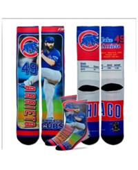 For Bare Feet Jake Arrieta Chicago Cubs Trading Card Player Crew Socks Royalblue