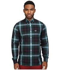 Fred Perry Bold Check Shirt Carbon Blue Men's Clothing Navy