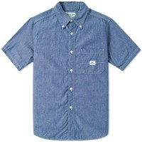 Sassafras Short Sleeve Green Thumb Shirt Blue