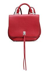 Rebecca Minkoff Woman Studded Pebbled Leather Backpack Red