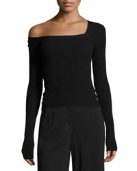 A.L.C. Aria One Shoulder Long Sleeve Sweater Black
