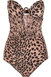 Zimmermann Writer Leopard Print Cutout Swimsuit Animal Print