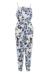 Oasis Botanical Orchid Jumpsuit Off White