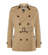 Burberry London The Kensington Short Heritage Trench Coat Male