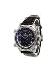 Zenith 'Pilot Doublematic' Analog Watch Stainless Steel