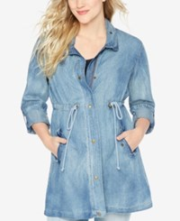 Wendy Bellissimo Maternity Drawstring Denim Jacket