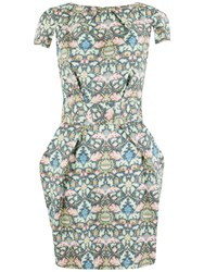 Closet Mirror Print Tulip Dress Multi