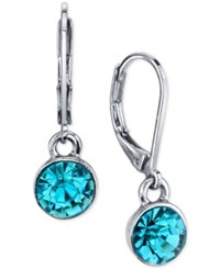 2028 Round Crystal Drop Earrings A Macy's Exclusive Style Aqua