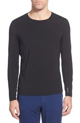 Men's Naked 'Luxury' Long Sleeve Stretch Sleep Top Black