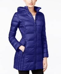 32 Degrees Packable Down Hooded Puffer Coat Only At Macy's Deep Blue