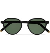 Moscot Les Sun Round Frame Acetate And Gold Tone Sunglasses Green