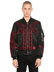 Marcelo Burlon Manual Alpha Ma1 Nylon Bomber Jacket
