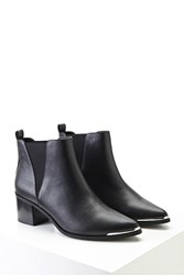 Forever 21 Faux Leather Ankle Boots Black