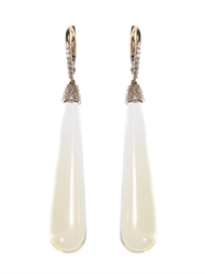 Susan Foster Diamond Lemon Quartz And Gold Earrings