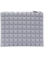 No Ka' Oi Chocolate Bar Quilted Clutch Grey