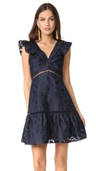 Rebecca Taylor Sleeveless Aly Fil Coupe Dress Navy