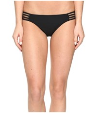 Red Carter Splice Dice Side Strap Classic Hipster Bottoms Black Women's Swimwear