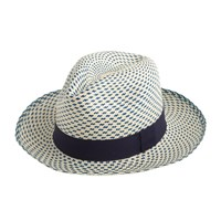 J.Crew Panama Hat In Two Tone Natural Navy