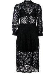 Fleur Du Mal Leopard Lace Dress Black