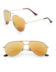 Sam Edelman 64Mm Round Aviator Sunglasses Yellow