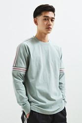 Urban Outfitters Uo Ribbed Drop Shoulder Long Sleeve Tee Grey