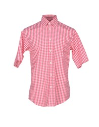 Henry Cotton's Shirts Shirts Men Fuchsia