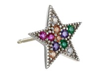 Marc Jacobs Something Special Studs Rainbow Star Single Stud Earrings Multi Silver Earring