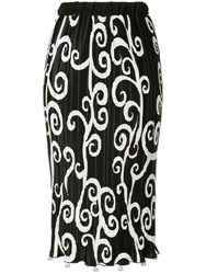 Romance Was Born Fortuny Vine Peal Skirt Black
