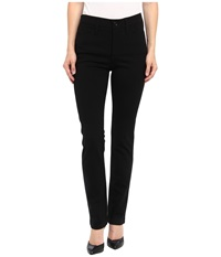 Nydj Petite Petite Cindy Slim Leg Ponte Knit Pant Black Women's Casual Pants