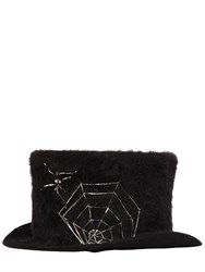 Move Spider Web Rabbit Fur Top Hat