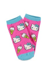 Forever 21 Hello Kitty Ice Cream Socks Fuchsia Aqua