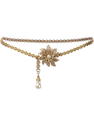Chanel Vintage Flower Link Chain Belt Metallic