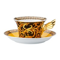 Versace 25Th Anniversary Barocco Teacup And Saucer Limited Edition