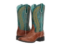Ariat Quickdraw Venttek Gingersnap Turquoise Cowboy Boots Brown