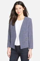 Gibson Zip Pocket Textured Blazer Blue