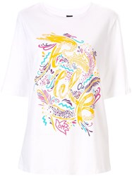 Romance Was Born Step Into Paradise Print T Shirt White