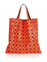 Issey Miyake Prism Faux Leather Tote Coral