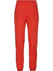 Prada Feather Nylon Trousers Orange