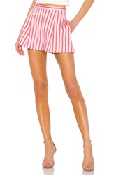 Mds Stripes Pleated Short Pink